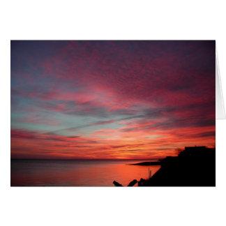 Cartão Nascer do sol em Hampton do leste