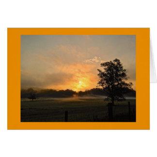 Cartão Nascer do sol Geórgia norte do verão
