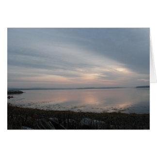 Cartão Nascer do sol no Atlântico