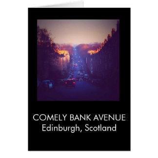 Cartão Nascer do sol no banco Comely