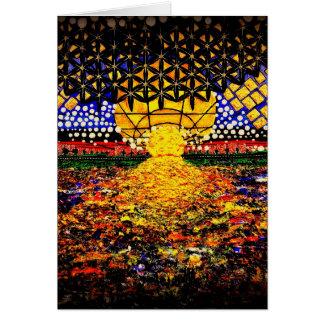 Cartão Nascer do sol no Hudson
