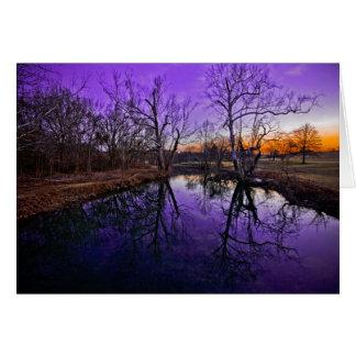 Cartão Nascer do sol no parque do Seneca