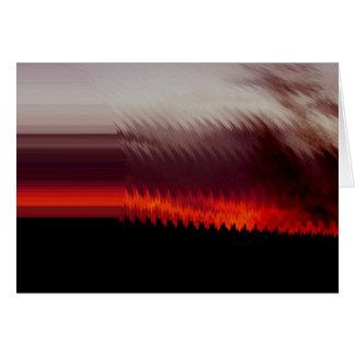 Cartão Nascer do sol perto do padeiro