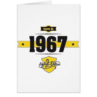 Cartão nascer em 1967 (choco&yellow)