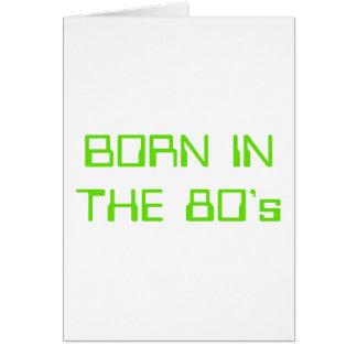 Cartão Nascer no anos 80