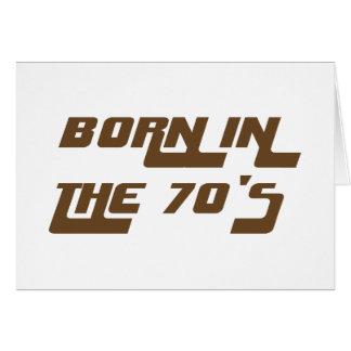 Cartão Nascer nos anos 70