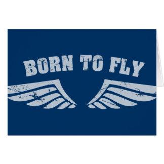 Cartão Nascer para voar as asas