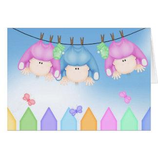 Cartão Nascimento das objectivas triplas