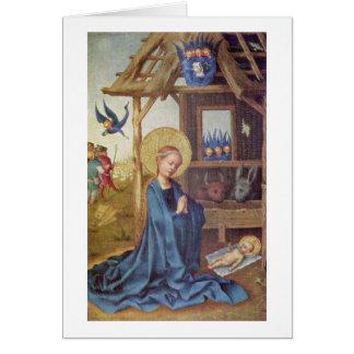 Cartão Nascimento do cristo por Stefan Lochner