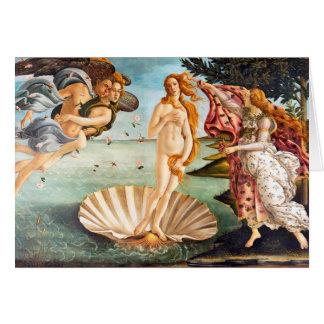 Cartão Nascimento restaurada e de Recolored Botticelli de