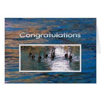 Cartão Natação sincronizada dos parabéns