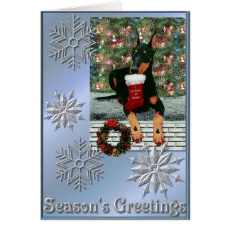 Cartão Natal 2004 de Manchester Terrier