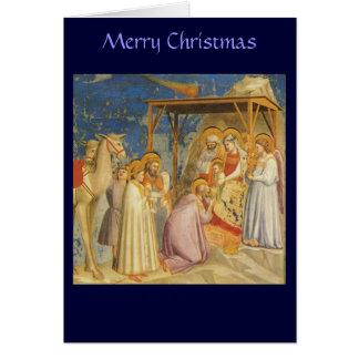 Cartão Natal - adoração dos Magi - Giotto
