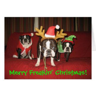 Cartão Natal alegre de Freakin!