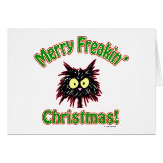 Cartão Natal alegre de Freakin