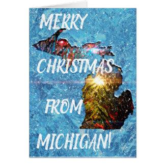 Cartão Natal alegre de Michigan