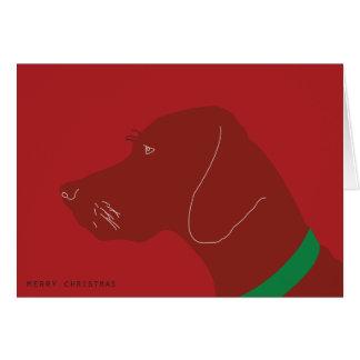 Cartão Natal alegre de Vizsla