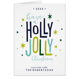 Cartão Natal alegre do azevinho