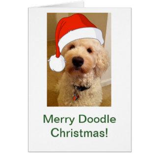 Cartão Natal alegre do Doodle!