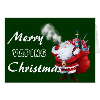 Cartão Natal alegre do papai noel de VAPE | Vaping