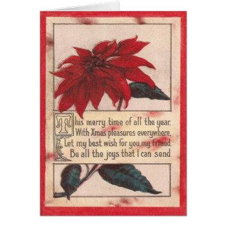 Cartão Natal alegre do tempo