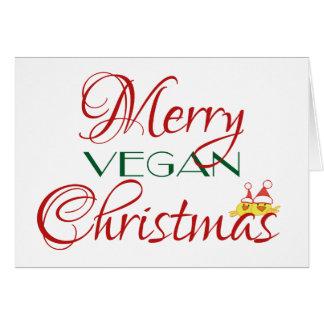 Cartão Natal alegre do Vegan