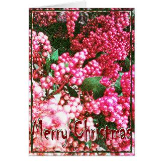 Cartão Natal, ano novo, feriado - bagas do azevinho