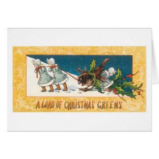 Cartão Natal antiquado