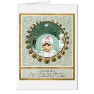 Cartão Natal antiquado, bebê