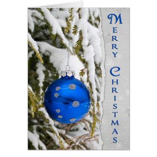 Cartão Natal azul