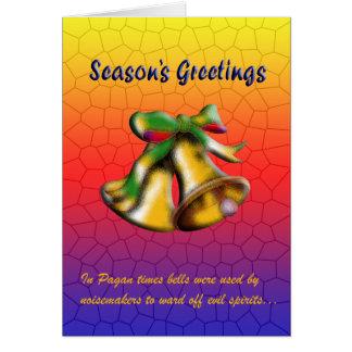 Cartão Natal Bell (ouro)