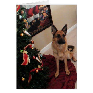 Cartão Natal bonito do german shepherd