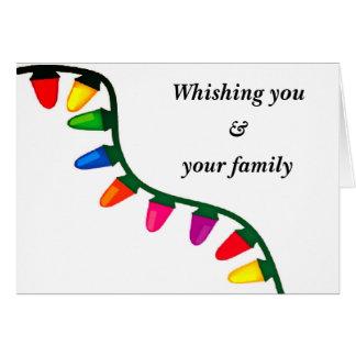 Cartão Natal brilhante