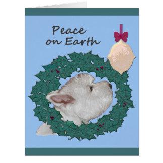 Cartão Natal calmo de Westie