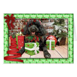 Cartão Natal - cão de água português - Lucy