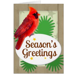 Cartão Natal cardinal vermelho Notecard dos cumprimentos