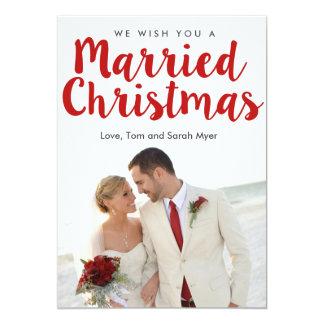 Cartão Natal casado do Natal |