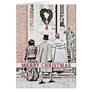 Cartão Natal - celebração nova velha histórica do castelo