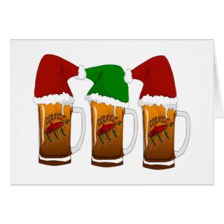 Cartão Natal Cerveza dos amigo de Tres
