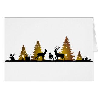 Cartão Natal cervo