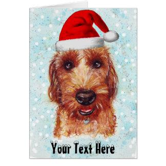 Cartão Natal Chester o Watercolour de Jackapoo