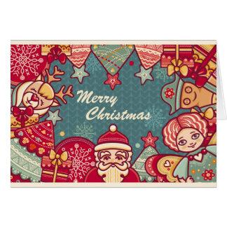 Cartão Natal, Christmas. Papai Noel, Veneno