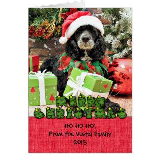 Cartão Natal - Cockapoo - Baxter