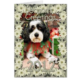Cartão Natal - Cockapoo - Molly
