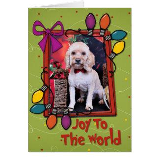 Cartão Natal - Cockapoo - Schmidt