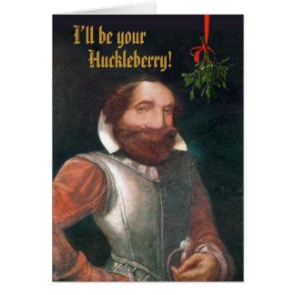 Cartão Natal colonial engraçado