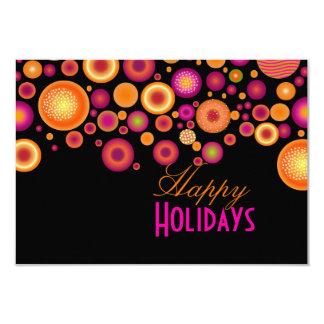 Cartão Natal corajoso retro Ornaments|calendar de