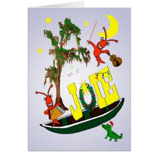 Cartão Natal da alegria de Cajun em francês