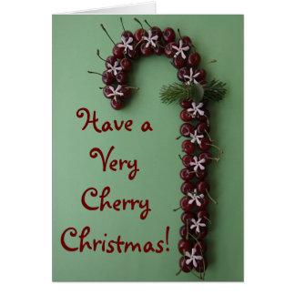 Cartão Natal da cereja
