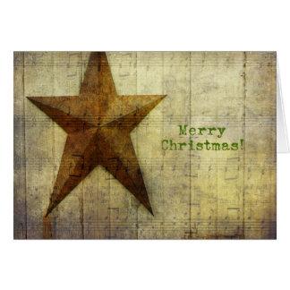 Cartão Natal da estrela do celeiro